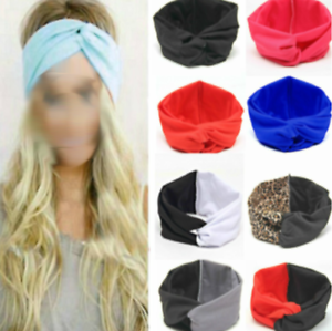 Stretchy-Twist-Knot-Bow-Head-Wrap-Headband-Twisted-Knotted-Ladies-Hair-Band