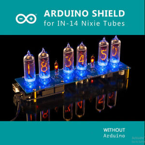 Details about IN-14 Nixie Tubes Clock Shield FOR Arduino, Remote, GPS,  Temp  WITH TUBES