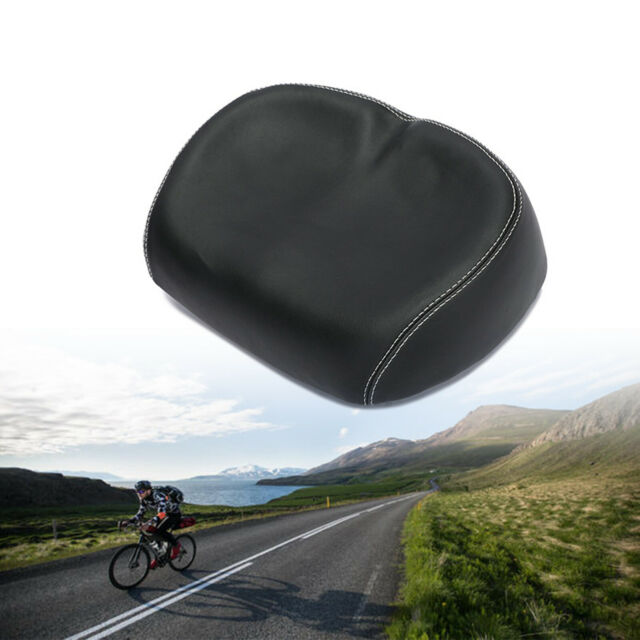 Extra  Comfort Wide Big Bum Bike Bicycle Gel Cruiser Sporty Soft Pad Saddle Seat
