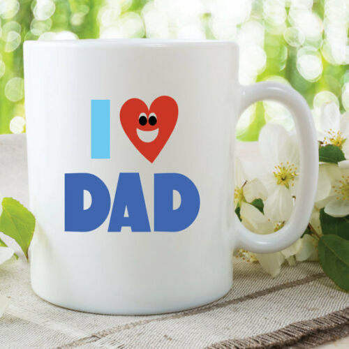 I Love Dad Mugs Fathers Day Gifts Present Birthday Coffee Cups 11oz WSDMUG561