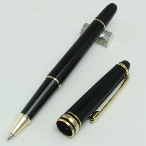 Luxury MB 163 Rollerball Pen Classic Design Gold Black Red Color 1 Refill