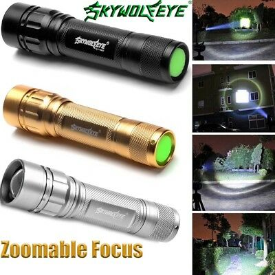 15000LM Zoomable Focus T6 XML Tactical LED Flashlight Torch Night Light