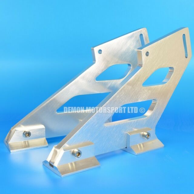 """Pair Of Universal Alloy Spoiler Mounting Brackets With Feet (approx 7"""" Inch)"""