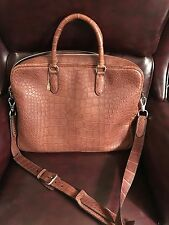 Ralph Lauren Crocodile Alligator Brown Briefcase-$22,000-New with Tags