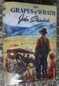 The-Grapes-of-Wrath-John-Steinbeck-1939-First-Edition-w-Facsimile-Dust-Jacket