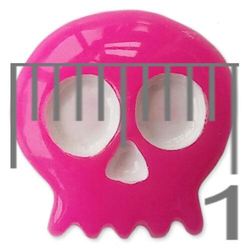 Mini Retro Pacman Skull Resin Flatback Cabochons Embellishments Charms Craft
