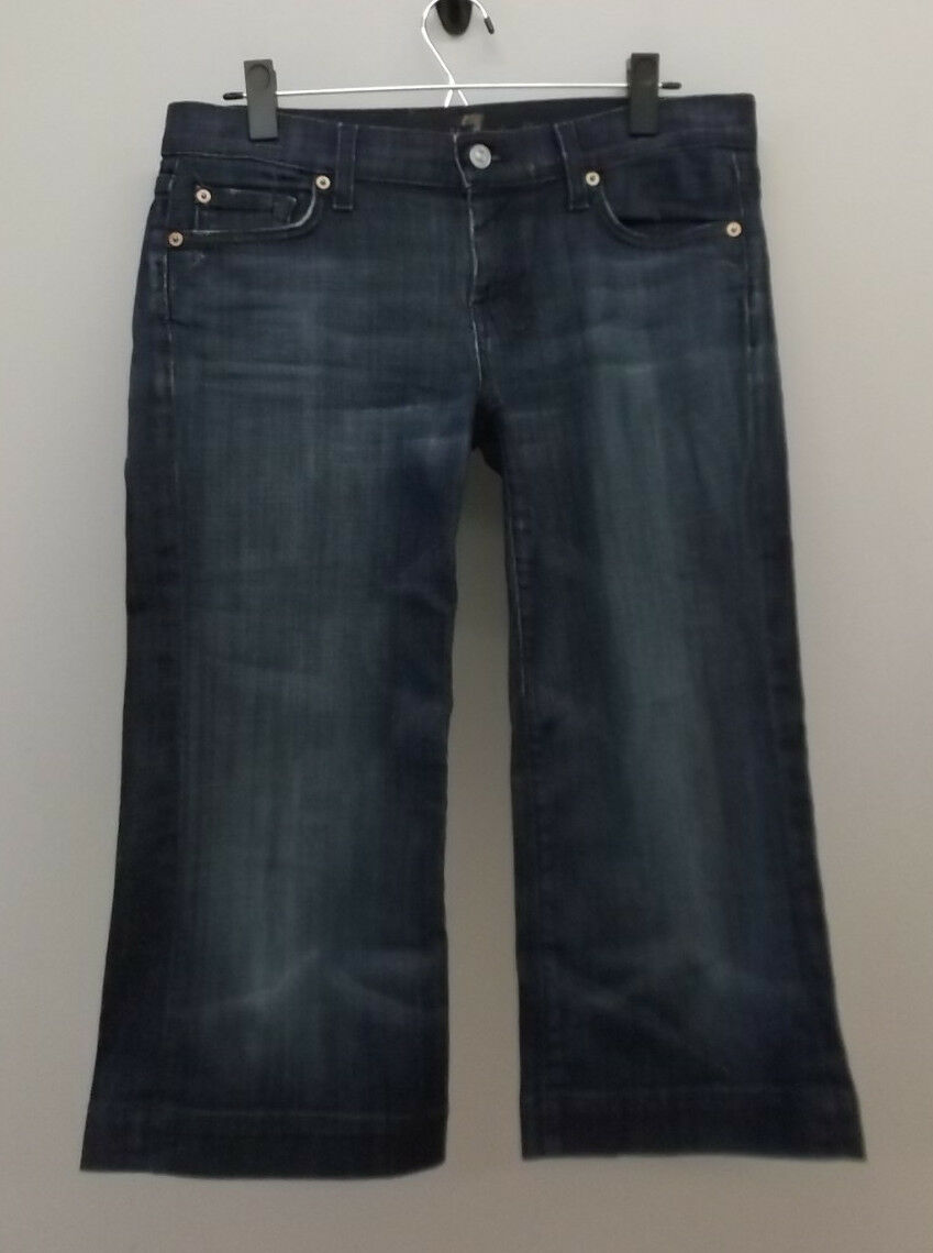7 FOR ALL MANKIND CROP DOJO LOW RISE STRETCH JEANS SIZE 28