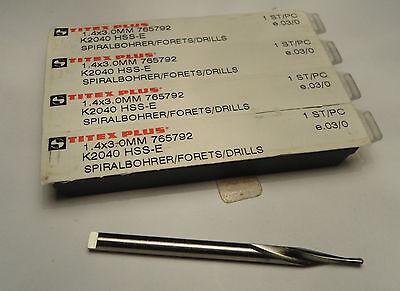 """Qty10 Titex 7//64"""" TIN Drill Bits"""