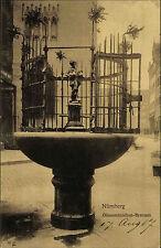 Nürnberg Bayern Mittelfranken AK 1907 Gänsemännchen Brunnen Bronze Figur Statue