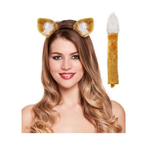 Volpe Costume Travestimento Orecchie Coda Fantastic Mr.Fox Unisex Vestito