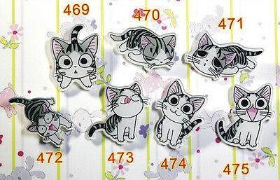 Lot 50X acrylic personality Japanese anime cat Badge Button Pin Christmas gifts