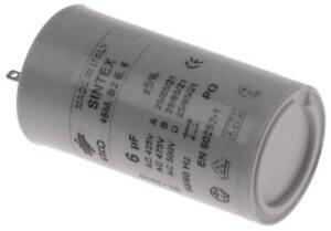 Condensatore-45m-b2e-6-con-Guaina-Plastica-6-f-425-475-500v-50-60-Hz