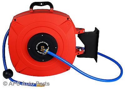Auto Rewinding Air Line Hose Reel 20 Meter Retractable Garage Workshop Mountable