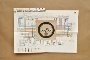 details about vtg 1986 yamaha maxim xj700 s xj700 sc color schematic wire wiring diagram  1986 yamaha maxim 700 wiring diagram #4