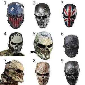 Outdoor Airsoft Military Cs Wargame Paintball Skull Full Face Mask Hunting Accessories Masks Back To Search Resultshome