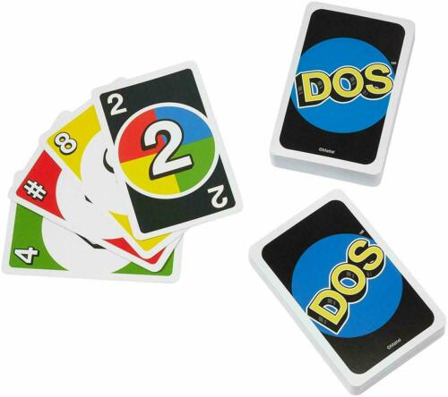 Uno Dos Card Game 2-4 Player For Ages 8 New /& Sealed Free Postage