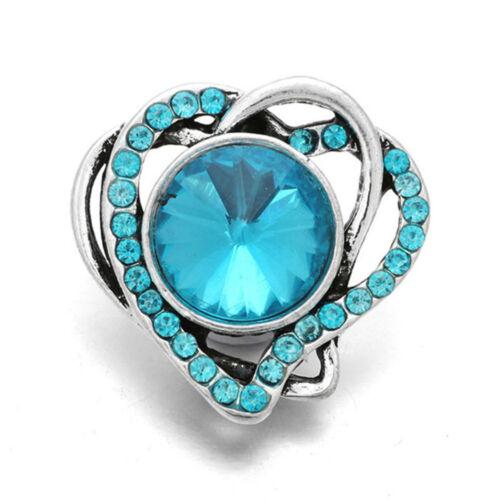 10pcs Cristal Alliage Charme Ginger Snap Bouton pour Noosa Collier//Bracelet N724