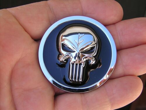 1 7//8 inch Metal Badge *NEW Interior or Exterior 47mm PUNISHER CAR EMBLEM