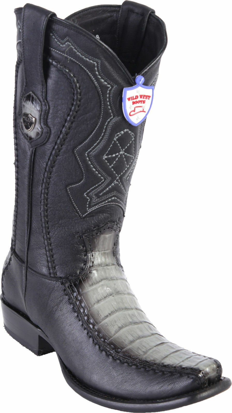 WILD WEST GRAY GENUINE CROCODILE BELLY WESTERN COWBOY BOOT BOOT BOOT DUBAI TOE (EE) 022d2a