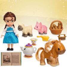 "Disney Store Beauty & the Beast Belle Animator 5"" Toddler Doll Figure Play Set"