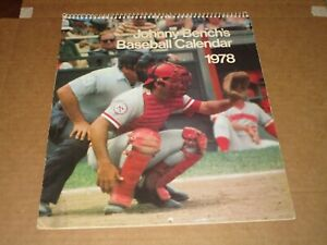 1976 JOHNNY BENCH BASEBALL CALENDAR CINCINNATI REDS