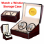 4-6-Montres-Remontoir-Luxe-Coffret-Watchwinder-Tourne-automatique-Box-Silencieux miniature 1