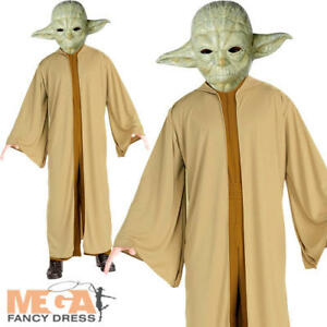 Disney Star Wars Yoda Costume Official Adult Mens Jedi Fancy Dress Party Outfit