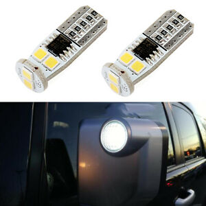 Pair Bright White Side Mirror Light Led Bulb For 2007 2014