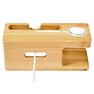 Bamboo-Charging-Dock-Station-Charger-Holder-Stand-Apple-Watch-iWatch-iPhone-I