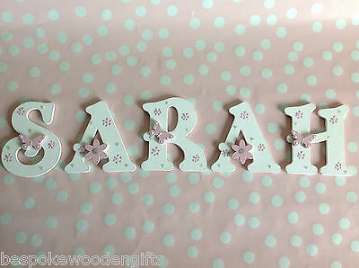 Personalised Child Boys Girls Name Letter Wooden Plaque Bed Room Wall Door 9 cm