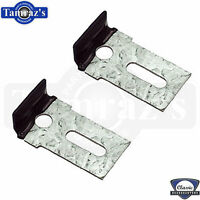 Front Windshield Glass Stop Clips Chevelle Nova Camaro Pair