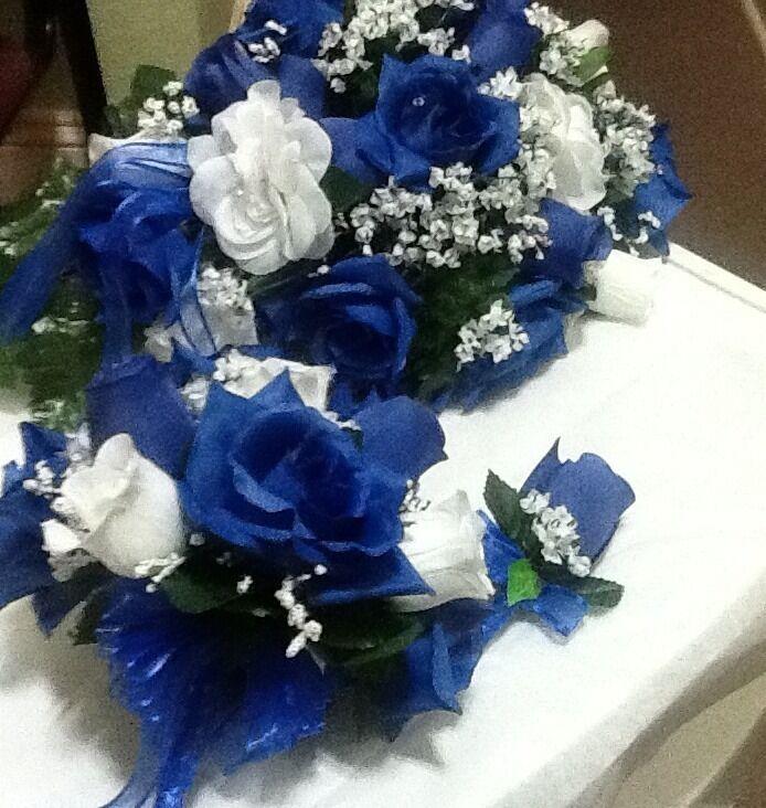 17 PC mariage Pkg Bleu Roi & Blanc Ou Toute Couleur Rush disponible vente fév 100
