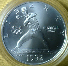 1992 Olympic Baseball BU Silver Dollar Commemorative US Mint Coin ONLY