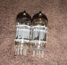 NOS MATCHED PAIR FOIL D GETTER AMPEREX HOLLAND 12AU7 E82CC / ECC82 TUBES AMAZING