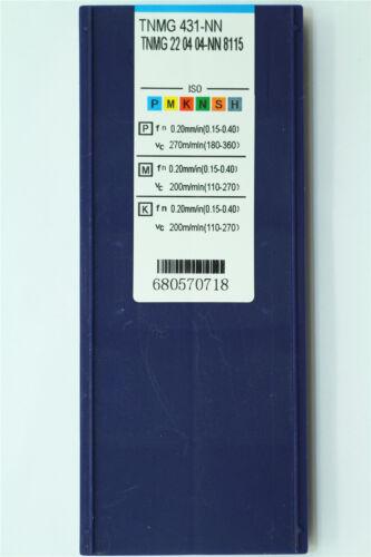 10P TNMG431-NN//TNMG220404-NN 8115 CNC Carbide insert For Stainless steel//steel