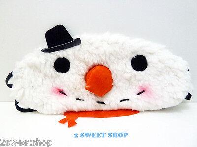 Japan ~ Harajuku Tokyo Cute Kawaii Snowman Travel Sleep Eye Mask