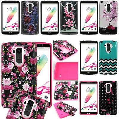 For LG G Stylo / G Vista 2 Hybrid Hard Plastic TPU Case Skin Phone Cover