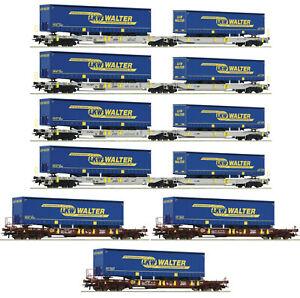 Roco-H0-75901-Wagen-Display-034-LKW-Walter-034-der-AAE-7-teilig-NEU-OVP