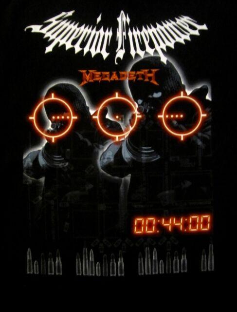 MEGADETH cd lgo SUPERIOR FIREPOWER Official SHIRT LRG New oop