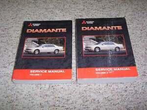 2001 mitsubishi diamante shop service repair manual es ls 3 5l v6 ebay rh ebay com 2000 Mitsubishi Diamante 2006 Mitsubishi Diamante