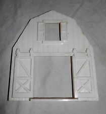 Vintage Plasticville O Scale White Barn End Wide Door