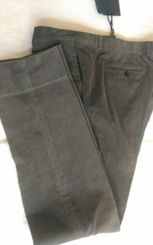 AQUASCUTUM DA UOMO GRIGIO MILLERIGHE MILLERIGHE MILLERIGHE Pantaloni Taglia 40 Nuovo con etichette c49a90
