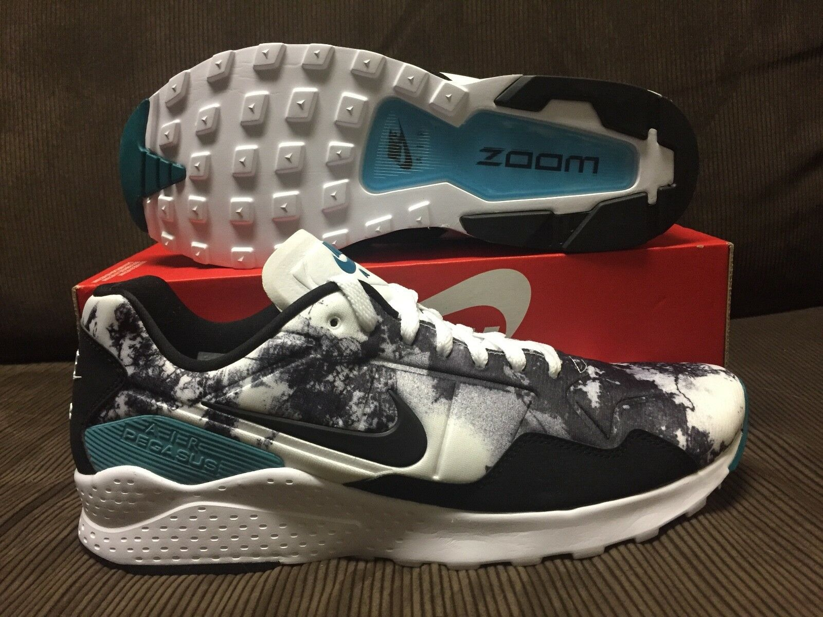 Nike air zoom pegasus 92 sz 12 nuovi nero / bianco / verde