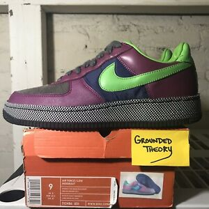 Details about 2006 Nike Air Force Low Insideout (312486 031) Sz 9 Midnight FogGreenBean Grape