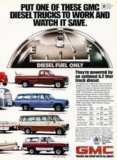1983 GMC Diesel Truck Suburban Jimmy  Original Advertisement Print Car Ad J539