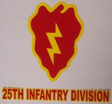Window Bumper Sticker Military Army 25th Infantry Division Tropic Lighning NEW