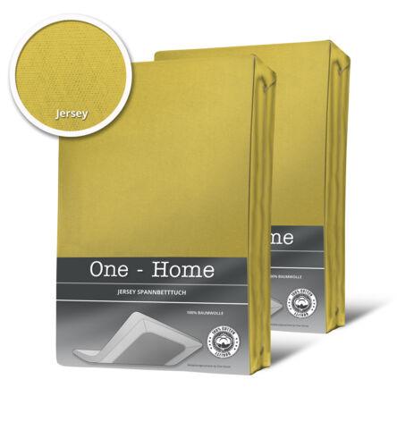 2er Set Spannbettlaken Bettlaken gelb zitrone 140 x 200 cm 160 x 200 cm Jersey