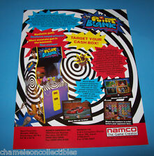 Namco POINT BLANK Original 1994 NOS Video Arcade Gun Game Promo Sales Flyer Adv.