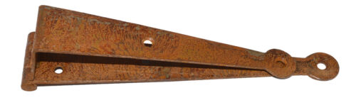 """CHEST RUSTIC IRON PENNY END HINGE CRANKED HINGE 7/"""" FOR BLANKET BOX"""