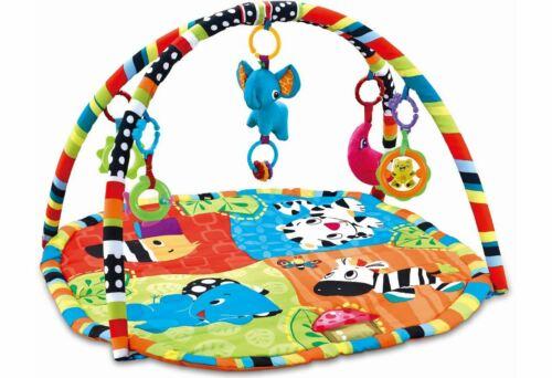 Baby Gym Playmat Animal Safari Adventure Play Mat /& Sensory Toys